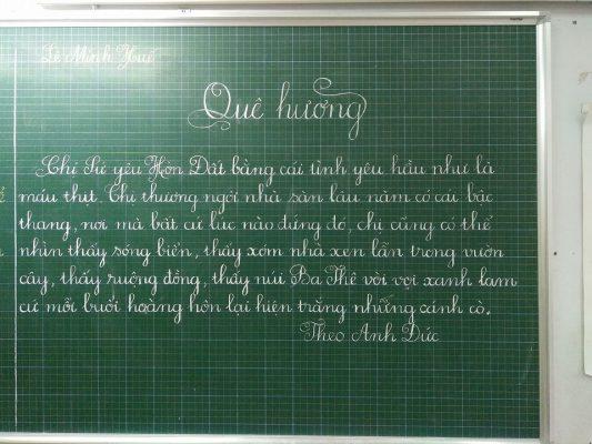 viet chu dep 3 533x400 - Phong trào luyện và thi viết chữ đẹp tôn vinh nét chữ Việt