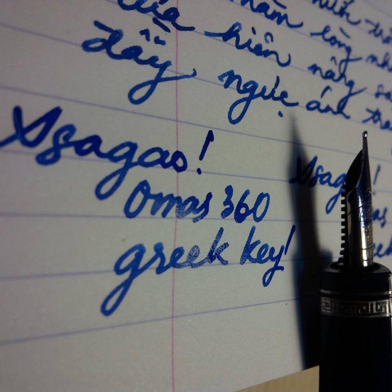 sử dụng bút máy