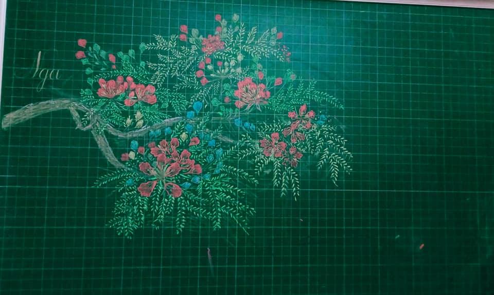 Các ý tưởng trang trí bảng lớp bằng phấn đơn giản độc đáo