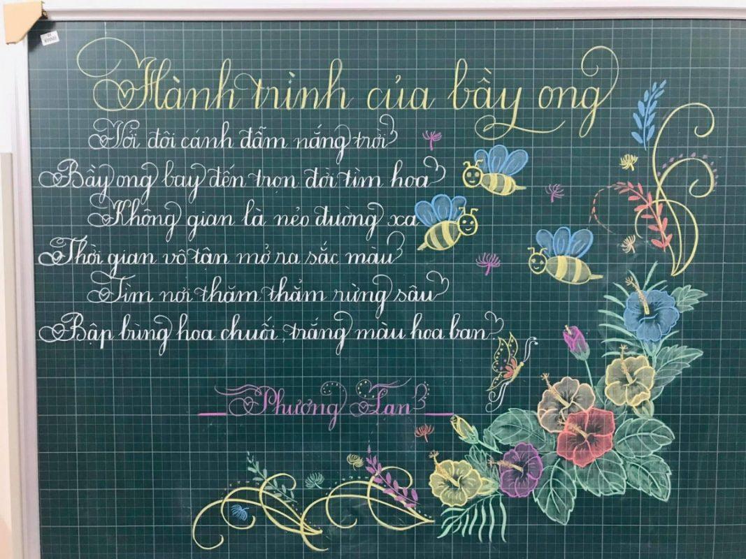 Trang trí bảng viết chữ đẹp