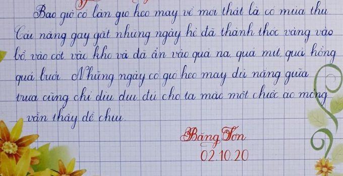 Luyện viết chữ đẹp vì sao luyện càng sớm càng tốt