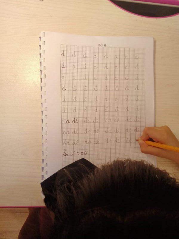 Mẫu chữ tập viết lớp