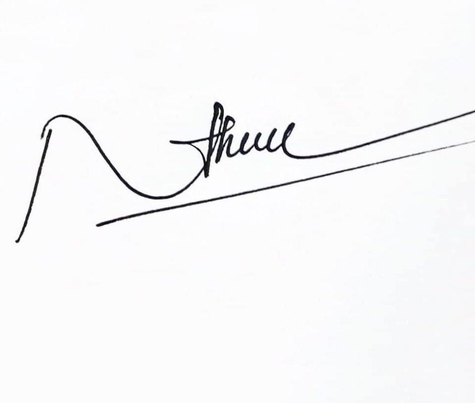 Mẫu chữ kí tên đẹp