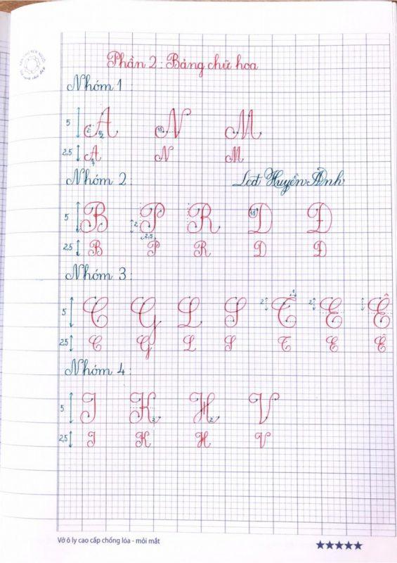 Mẫu chữ viết chuẩn đẹp