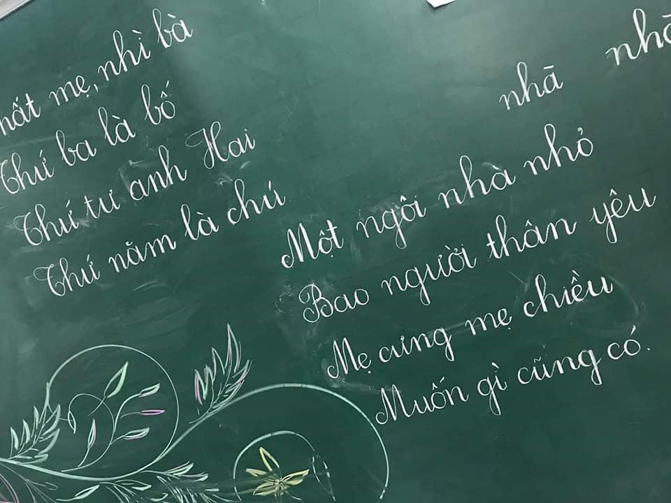mẫu viết bảng đẹp