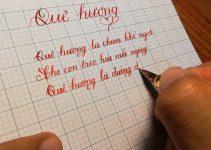 Mẫu bài thi viết chữ đẹp lớp 2