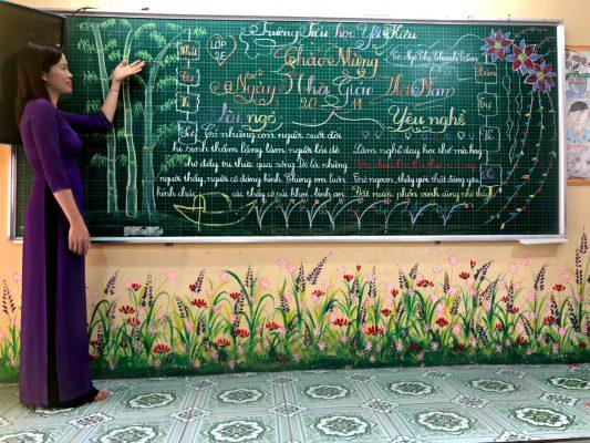 bài thi viết bảng đẹp