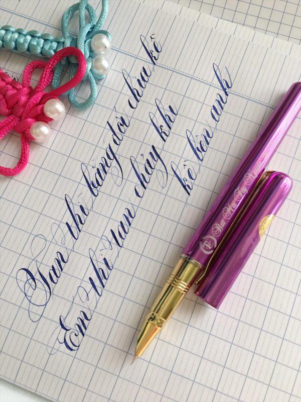 cách viết chữ đẹp bằng bút máy bút mực