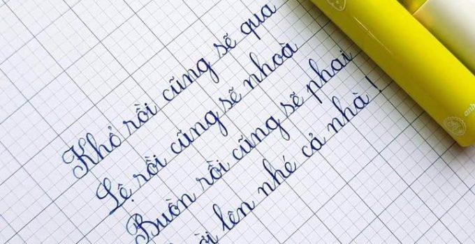Mẫu bài thi viết chữ đẹp của học sinh
