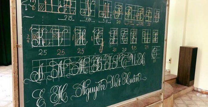 Mẫu bài thi viết bảng đẹp