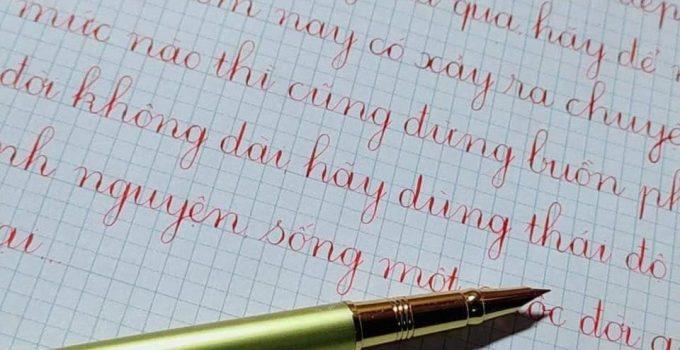 Mẫu chữ viết thường cỡ nhỏ
