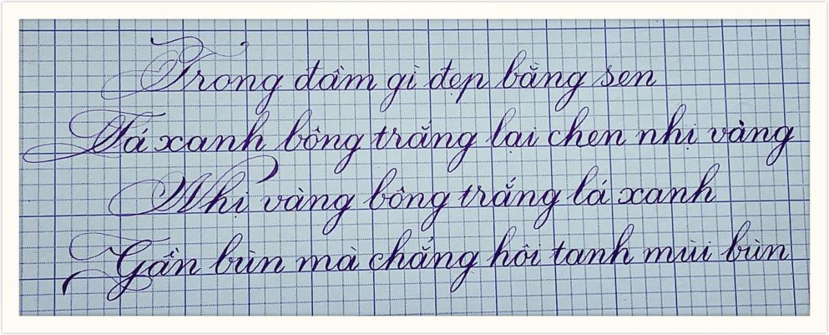 viết chữ nghiêng đẹp