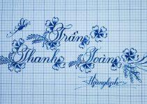 Cách luyện viết chữ hoa sáng tạo