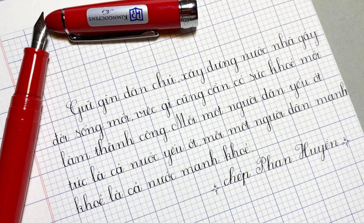 Cách viết chữ đẹp cấp 2