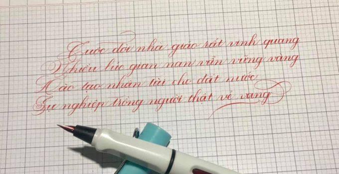 bút mực không bẩn tay