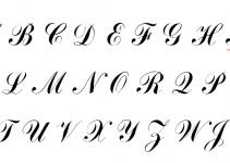 Bảng chữ cái in hoa nét thanh nét đậm