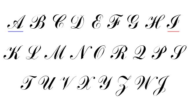 Mẫu chữ nét thanh nét đậm