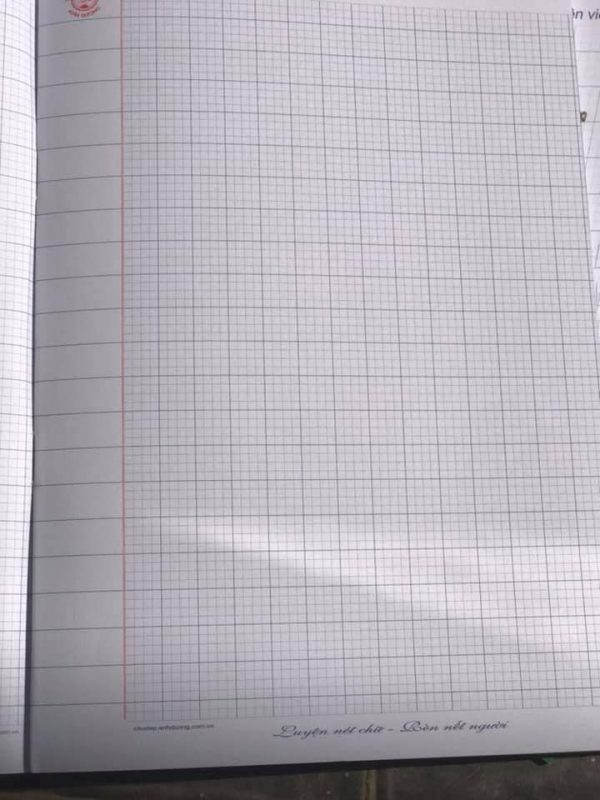 Mẫu giấy viết chữ 4 ô ly
