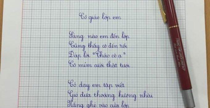 Mẫu bài thi viết chữ đẹp lớp 5