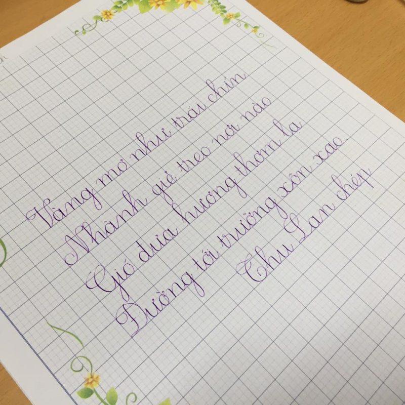 Cách viết chữ 5 ô ly