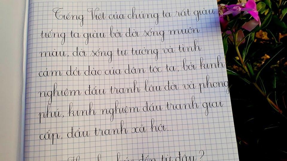 cách viết chữ đẹp bằng bút bi
