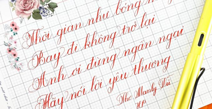 Mẫu luyện viết Calligraphy