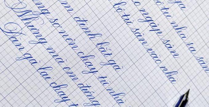 Bút lá tre nét thanh nét đậm