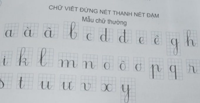 Cấu tạo 29 chữ cái in thường