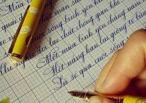 Mẫu bài thi viết chữ đẹp cấp trường